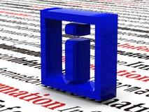 Information. Symbol Stock Image