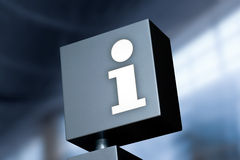Information Symbol. A sign with the i as as a symbol for information and help Royalty Free Stock Photo