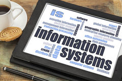 Information systems word cloud Stock Images