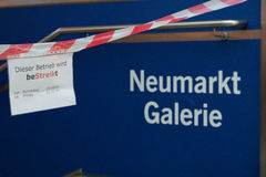 Information table at the metro station Neumark royalty free stock photography