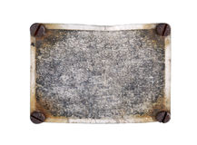 Information tablet. The old rusty information tablet stock image