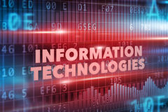 Information technologies concept. Red background red text royalty free illustration
