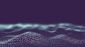 Information technology background wave animation. Network business infographics. it computer technology concept. Information technology background. Network royalty free illustration