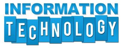 Information Technology Blue Stripes Stock Photography