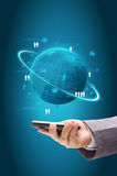 Information technology business concept, Network process diagram Royalty Free Stock Photo