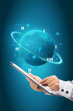Information technology business concept, Network process diagram Stock Image