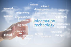 Information technology cloud Stock Photography
