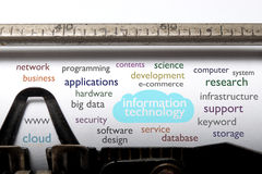 Information technology cloud Stock Photo