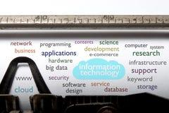 Information technology cloud Stock Photo