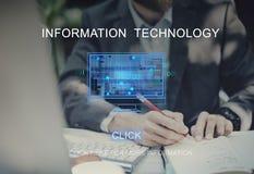 Information Technology Computing Data Digital Concept. Business People Information Technology Computing Royalty Free Stock Image