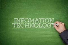 Information technology concept on blackboard Royalty Free Stock Images