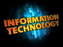 Information Technology on Digital Background. Royalty Free Stock Photos