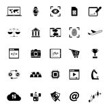 Information technology icons on white background. Stock vector Stock Image