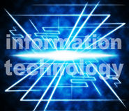 Information Technology Represents Answer High-Tech And Knowledge Stock Photos