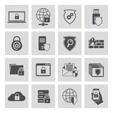 Information technology security icons set Royalty Free Stock Photos