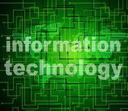Information Technology Shows Assistance Data And High-Tech Royalty Free Stock Photos