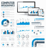 Information technology statistics infographic elem Royalty Free Stock Images