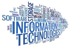 Information technology in tag cloud Stock Image
