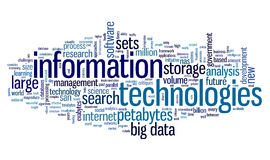 Information technology in tag cloud royalty free stock images