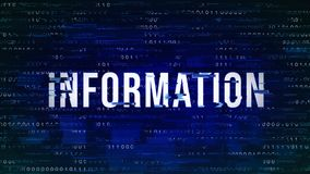 Information - tekniskt felmodeord med binärt i bakgrunden arkivfoto