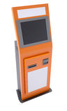Information terminal with touch screen Royalty Free Stock Images