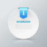 Information text card Royalty Free Stock Images