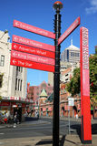 Information undertecknar in Sydney Arkivbild