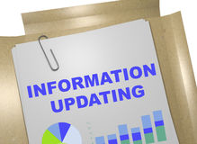 Information Updating concept Stock Photo