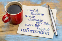 Information and user experience concept Royalty Free Stock Photos