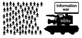 Information war, news fake. Information war, news fake, vector Royalty Free Stock Photography