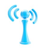 Information and wireless signal glossy icon isolated Royalty Free Stock Photography
