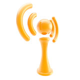 Information and wireless signal glossy icon isolated Stock Photography