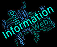 Information Word Represents Wordcloud Support And Answer Royalty Free Stock Photography