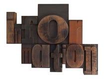 Information, written in vintage printing blocks Stock Photos