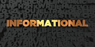 Informational - Gold text on black background - 3D rendered royalty free stock picture Royalty Free Stock Photos