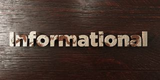 Informational - grungy wooden headline on Maple  - 3D rendered royalty free stock image Royalty Free Stock Photo