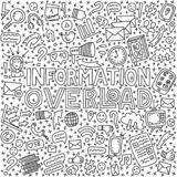 Informational overload illustration stock illustration
