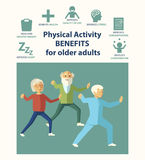 Informational poster template for senior. Tai chi vector illustration