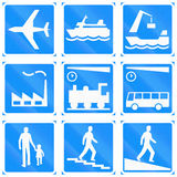 Informational Road Signs In Finland Stock Photos