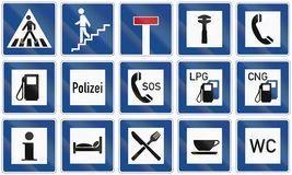 Informational Road Signs In Germany Royalty Free Stock Images