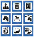 Informational Road Signs In Iceland Stock Images