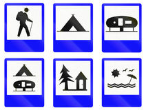 Informational Road Signs In Indonesia. Collection of Informational Road Signs In Indonesia Royalty Free Stock Photos