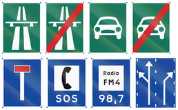 Informational Road signs used in Sweden Stock Photography