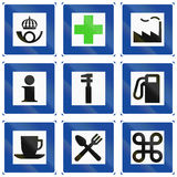 Informational Road signs used in Sweden Stock Photo