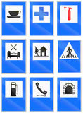 Informational road signs used in Switzerland. Collection of Informational road signs used in Switzerland Royalty Free Stock Photography