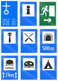 Informational road signs used in Switzerland Stock Photography