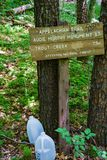 Informational Sign on the Appalachian Trail in Southwestern Virginia -2 Stock Photo