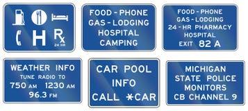 Informational Stany Zjednoczone MUTCD drogowi znaki ilustracja wektor