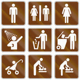 Informational Stany Zjednoczone MUTCD drogowi znaki Zdjęcie Royalty Free