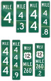 Informational United States MUTCD road signs. Collection of Informational United States MUTCD road signs Stock Image